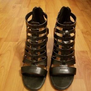 Indigo Rd. Black block heels size 8